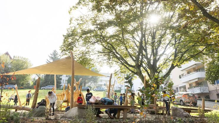 Die Einweihung des Spielplatzes Schärerwiese sorgte für viele fröhliche Kindergesichter.