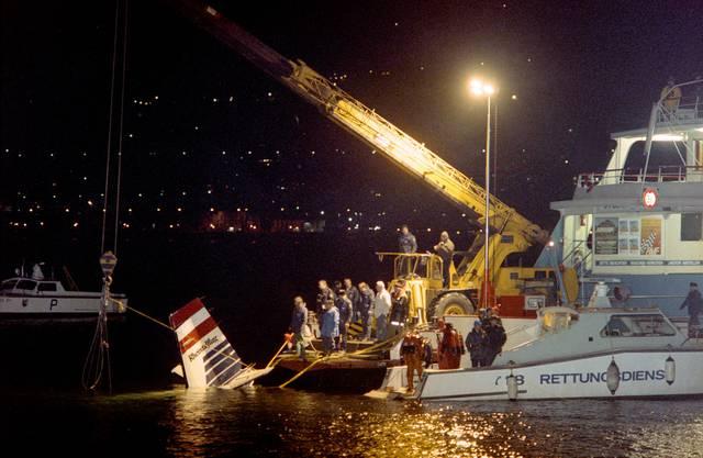 Das Flugzeug stürzte über dem Bodensee bei Rorschach ab.