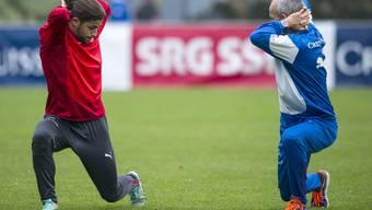 Ricardo Rodriguez im Training der Schweizer Nationalmannschaft in Freienbach. Auf einen Einsatz muss er aber wohl verzichten müssen.