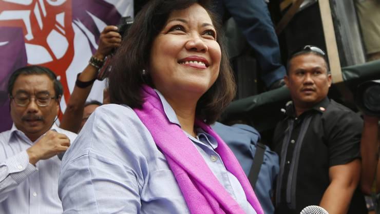 Die von ihren Kollegen abgesetzte Präsidentin des Obersten Gerichts der Philippinen, Maria Lourdes Sereno.