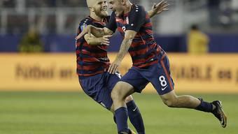 Jordan Morris (Nummer 8) war der gefeierte Siegtorschütze der USA im Gold-Cup-Final