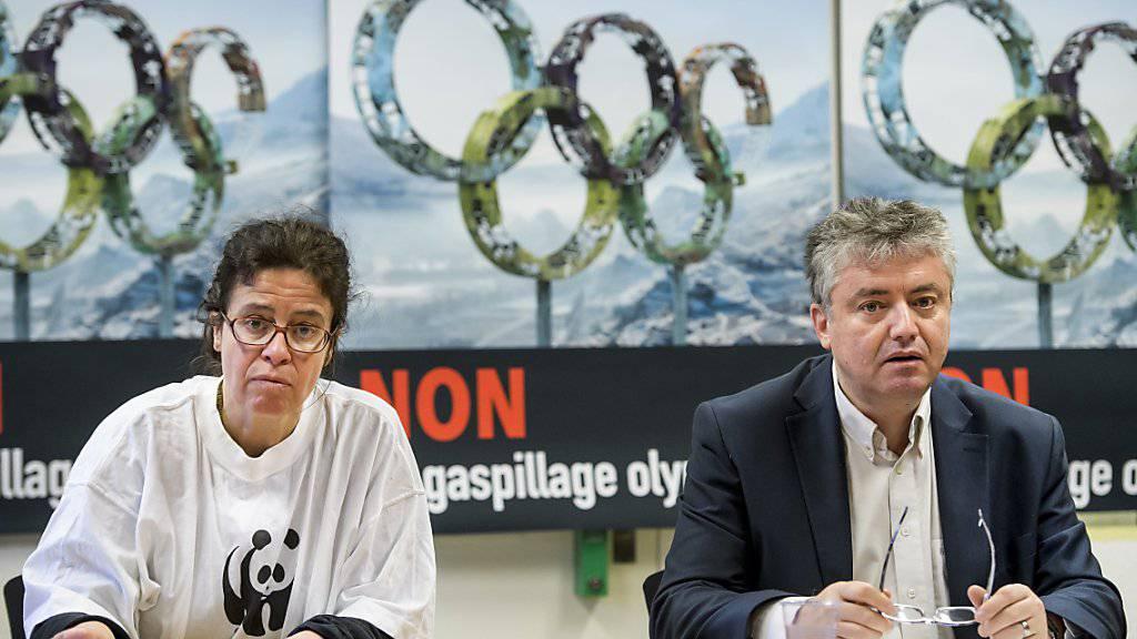 Das Walliser Komitee gegen die Kandidatur für die olympischen Winterspiele 2026 warnt vor den Kosten.
