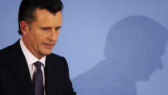 Nationalbankpräsident Philipp Hildebrand vor den Medien