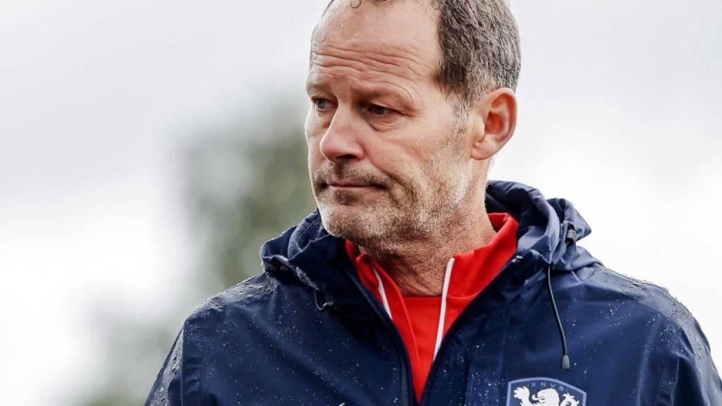 Blickt schwierigen Wochen entgegen: Hollands Nationaltrainer Danny Blind