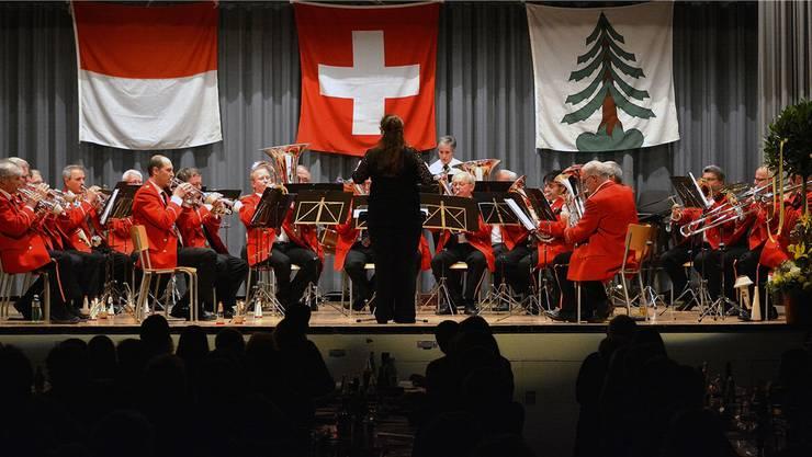 Der Musikverein Gretzenbach spielte auch das Stück «The Lonely Alphorn», ein Solo für Alphorn.