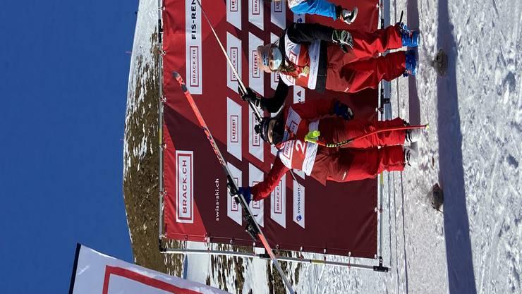 Alexandra Walz (r.) musste sich nur Luana Flütsch (m.) und Katja Grossmann geschlagen geben.