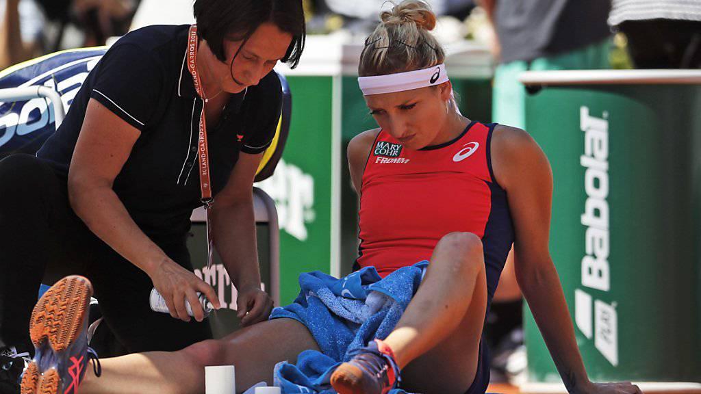 Timea Bacsinszky hat erneut mit Verletzungspech zu kämpfen (Archiv)