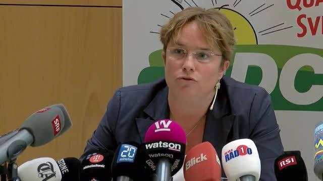 Magdalena Martullo kandidiert für den Nationalrat – den Grund dafür nannte sie an der heutigen Medienkonferenz der SVP Graubünden.
