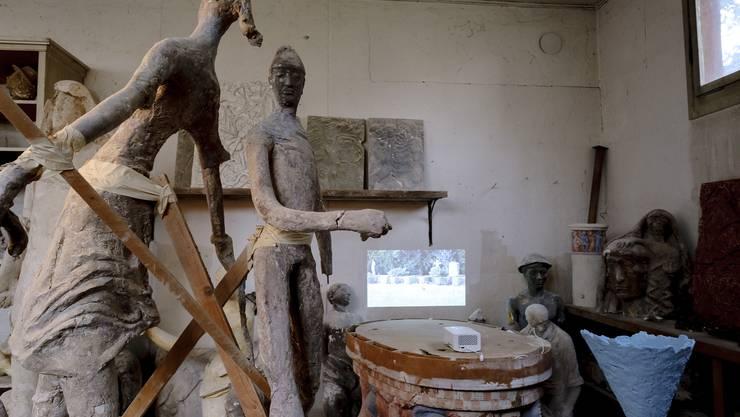 Neben dem Thomas-Platter-Schulhaus befindet sich das Atelier, dass eigens für Zschokkes Brunnenbau eingerichtet wurde.