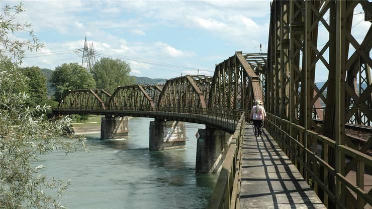 Die Aarebrücke von 1892. (Archiv)