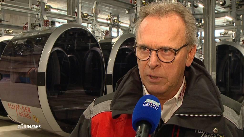"""""""BergJet"""" steht still: Jungfernfahrt am Flumserberg wegen Sturm abgesagt"""
