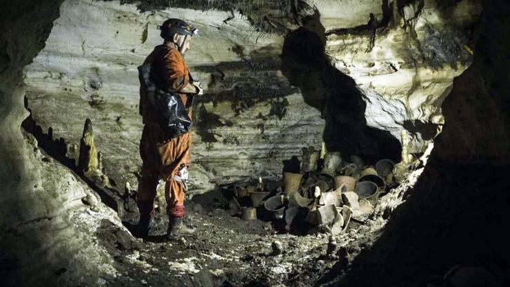 Archäologen haben in der berühmten Maya-Ruinenstadt Chichén Itzá in Mexiko Gefässe und andere Objekte aus präkolumbischer Zeit in einer Höhle entdeckt. (Archiv)