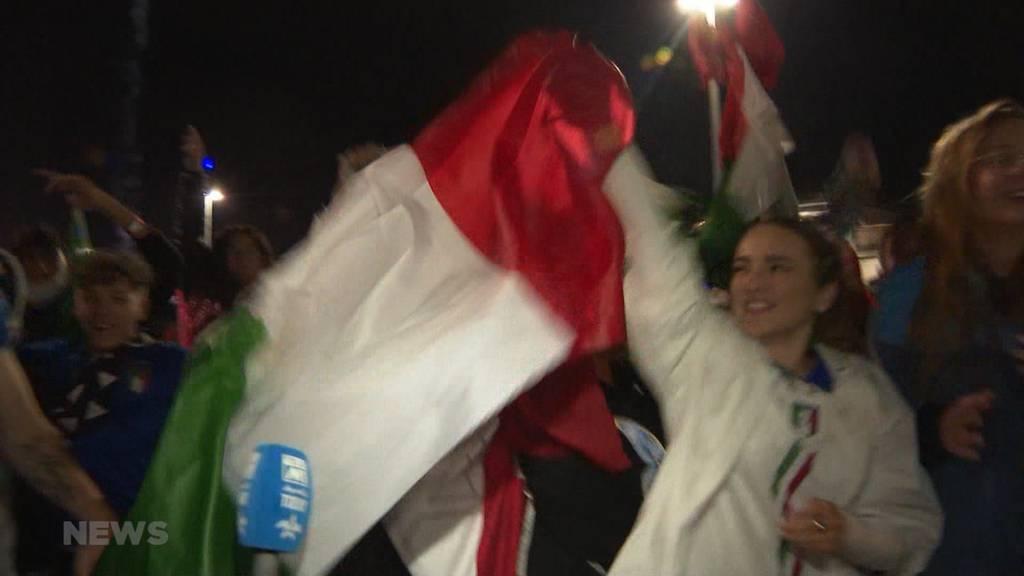 Italien im Finale: Die Freude der italienischen Fans artet aus