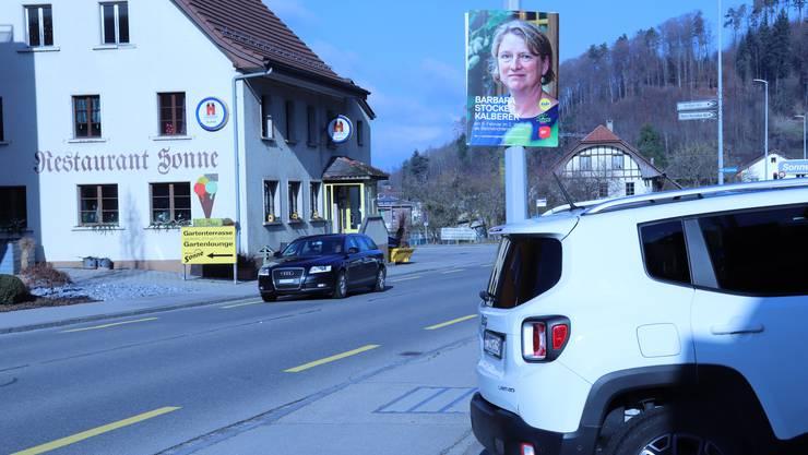 Ist im Bezirk Kulm präsent: Barbara Stocker Kalberer, hier in Moosleerau.