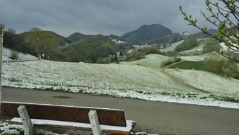 Schön ist es im Aargau überall. Und so wünschen wir es uns: wenigstens einen Hauch Schnee wie hier auf der Staffelegg. Ueli Wild
