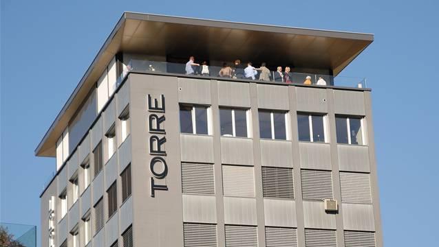 Da Restaurant Torre befindet sich im 10. Stock des Hauses Rütistrasse. Foto: AZ Archiv/Walter Schwager