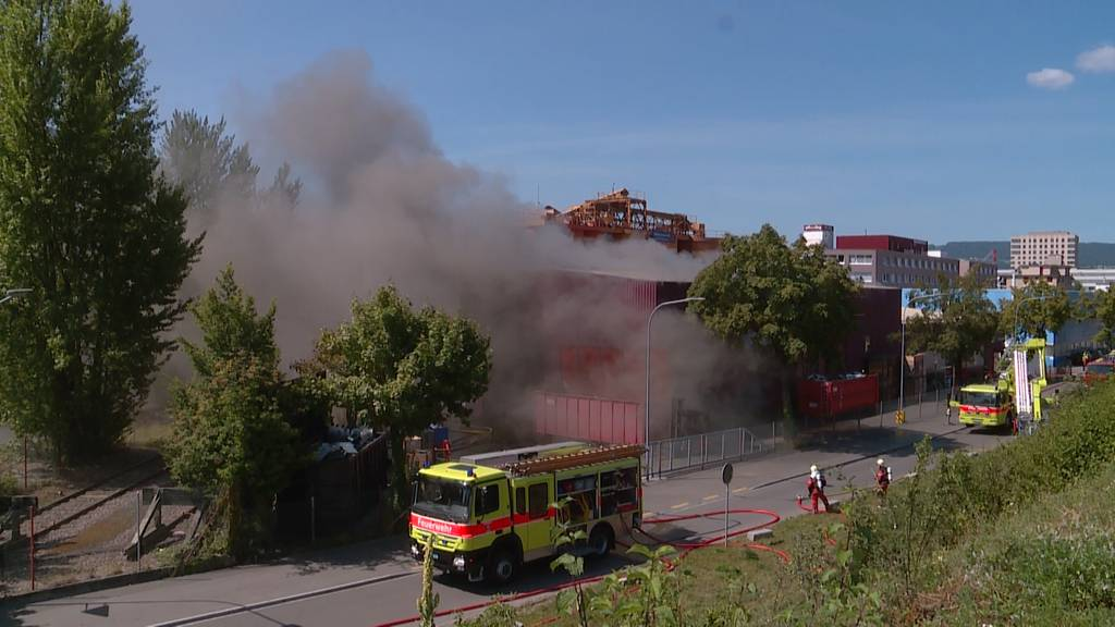 Brand in Recycling-Anlage in Schlieren