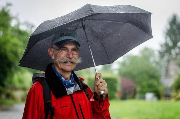 «Das Wetter spielt mir keine Rolle», sagt Leserwanderer Moritz Egloff.