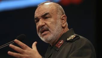 Der Chef der iranischen Revolutionsgarden, Hussein Salami, hat den Abschuss einer US-Aufklärungsdrohne über dem Iran bekannt gegeben. (Archiv)
