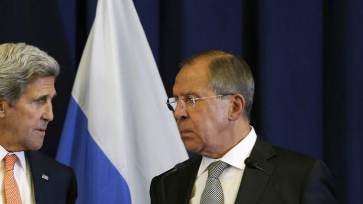 US-Aussenminister John Kerry und sein russischer Amtskollege Sergej Lawrow wollen in Syrien die Wende schaffen mit einer Waffenruhe ab Montag.