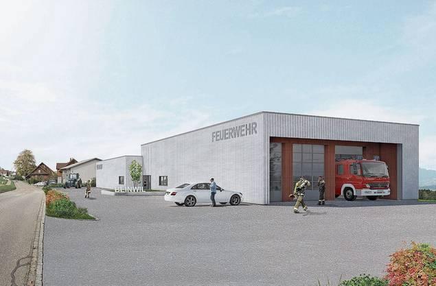 Im Sommer 2021 sollen Feuerwehrlokal und Werkhof bezugsbereit sein.