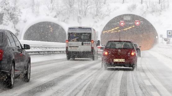 Der Gotthardtunnel im Schnee (Symbolbild)