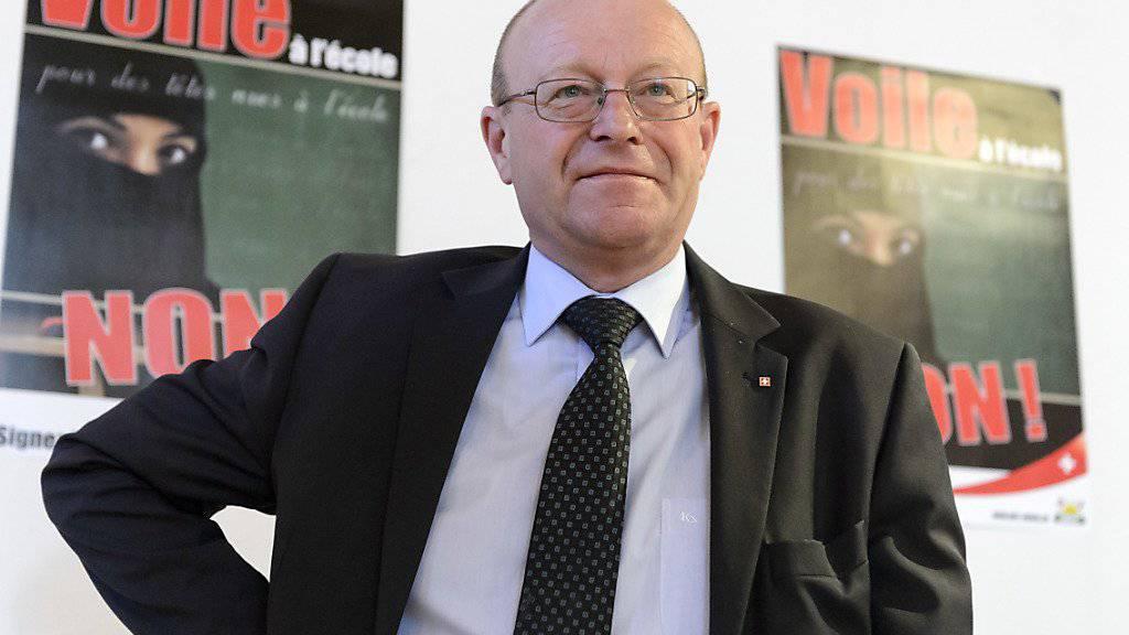 Jean-Luc Addor gehört zu den Mitinitianten eines Walliser Volksbegehrens gegen Kopfbedeckungen in der Volksschule, das vor allem ein Verbot des Kopftuchs zum Ziel hat. (Archiv)