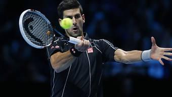 Novak Djokovic nimmt den Ball ins Visier.