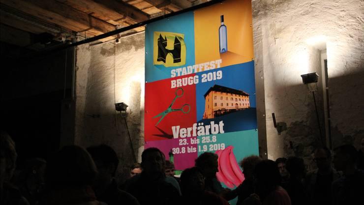Im Januar wurden im Brugger Salzhaus das Motto «verfärbt» sowie die Rahmenbedingungen für das Stadtfest 2019 vorgestellt.