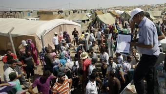 Irakische Flüchtlinge in einem Lager in Syrien (Archiv)