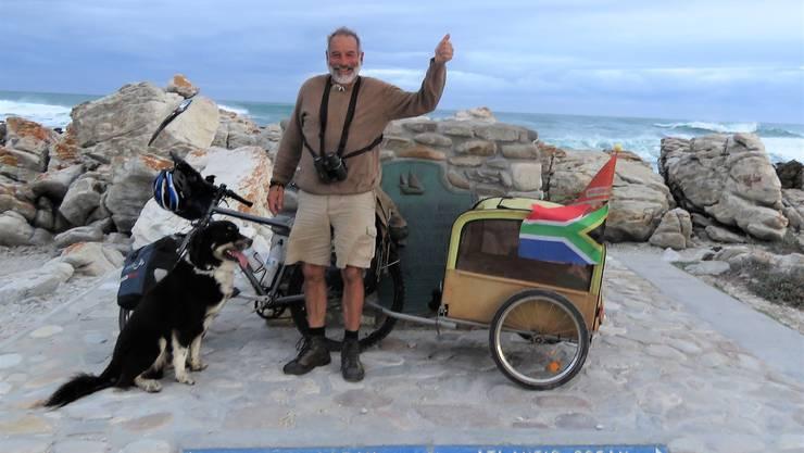 Am Cape Agulhas, dem südlichsten Punkt vom afrikanischen Kontinet