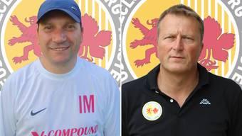 Isidore Marchese (links) und Rainer Müller werden ab Sommer 2016 durch zwei neue Trainer abgelöst.