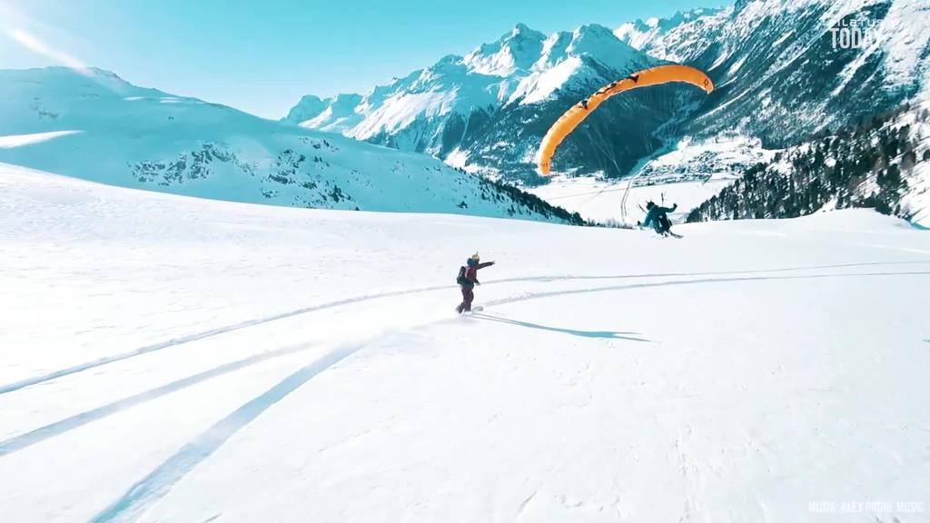 Nidwaldner macht's vor: So habt ihr Wintersport noch nie gesehen