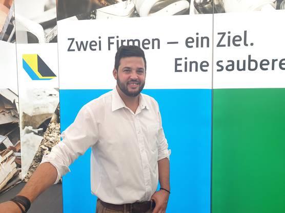 Neuenschwander AG Mulden-Service und Entsorgung mit Geschäftsleiter Christof Neuenschwander
