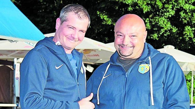 Gute Stimmung auf dem Zelgli: Co-Präsident Marco Seifriz und Sportchef Antonio Caputo.