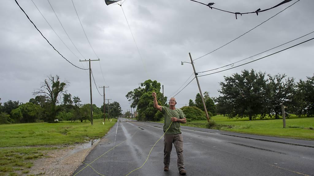 Das Nationale Hurrikanzentrum (NHC) stufte den Hurrikan «Ida» als «extrem gefährlich» ein. Foto: Chris Granger/The Advocate/AP/dpa
