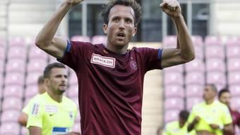 Anthony Sauthier erzielte das Siegtor für Servette bei Aufsteiger Rapperswil-Jona