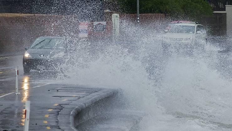 Seit drei Tagen bereits wütet ein schwerer Wintersturm in Neuseeland.