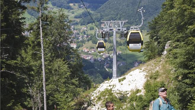 Die Wasserfallenbahn: Von der Art und vom Gebiet her vergleichbar mit der Situation beim Weissenstein. Guido Schärli/zvg