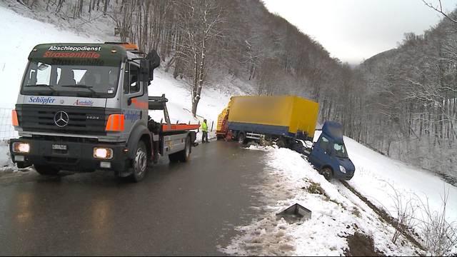 45 Unfälle wegen Schneechaos