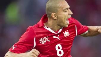 Gökhan Inler trägt gegen Spanien die Captain-Binde