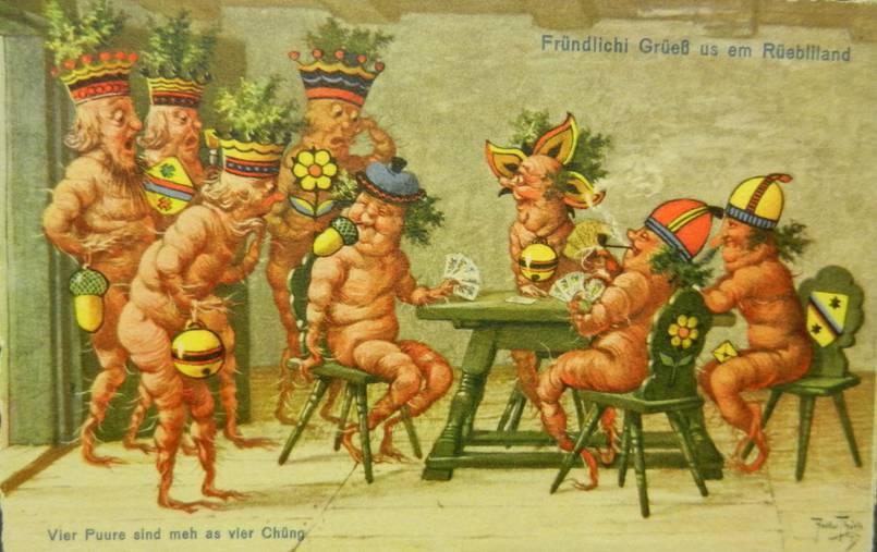 Rüebliland Postkarten (© Aargauer Zeitung)