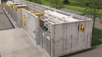 Die erste selbst produzierende Wasserstoff-Tankstelle wurde 2012 eingeweiht.ZVG