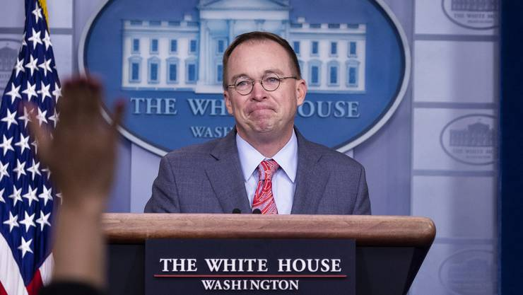 Verplappert: Mick Mulvaney.