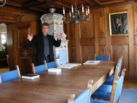Sitzungszimmer im Lavaterhaus, mit Pfarrer Ueli Greminger