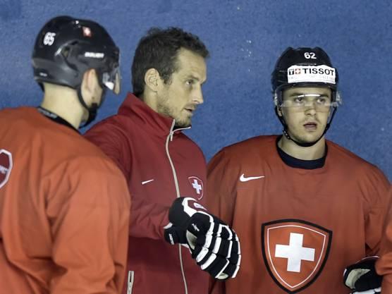 Dicke Luft zwischen Nationaltrainer Patrick Fischer und Denis Malgin (rechts)