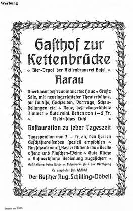 Das Inserat aus dem Jahr 1910.