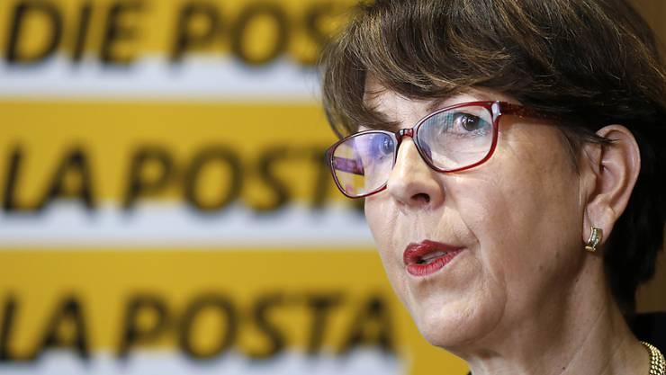 Köpferollen bei der Post: Die Geschäftsleitung der Postauto AG wird freigestellt. Post-Chefin Susanne Ruoff gab ihren Rücktritt bereits am Sonntag bekannt. (Archivbild)