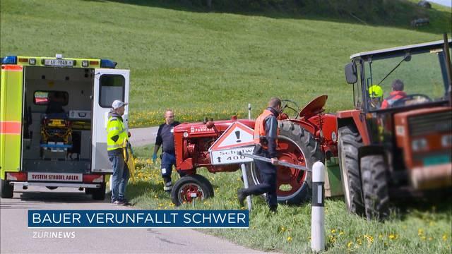 Traktor überschlägt sich mehrmals