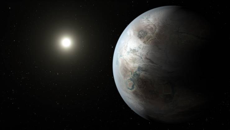 Kepler-452b umrundet seinen Heimatstern in einer ähnlichen Distanz wie unsere Erde die Sonne.